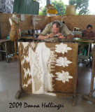 Peter Photographing a Batik Cloth