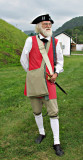 Restin Swensen who is the leader of the Mount Independence Fife & Drum Corps