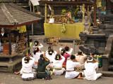 Attending a Shrine inside Besakih
