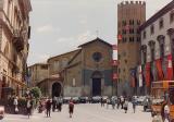 Piazza Republica preparing for Papa