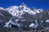 Masherbrum (7821m) above Baltoro glacier