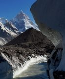 Glacial river and Masherbrum