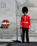 Guard at Canadian National War Memorial
