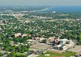 Aerial pictures of the Sarnia Hospital and surrounding area