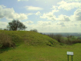 Thurnham Castle : the motte(ringwork on the plan) from the bailey