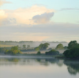 Morning  mist  over  Bateman's  Hill.