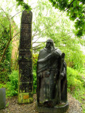 St  Dogmael  and  a  celtic  carving,