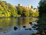 Castle  ruins  high  above  the  River Tees.