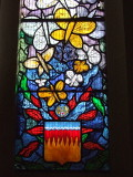 The 398th.Bomb Group Memorial Window;a detail.