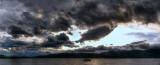 lake te anau sunset panorama (hdr)