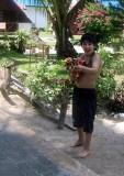 Songkran fun - Hands up!