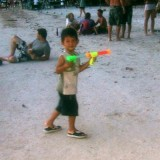 Songkran fun - small but mischievous