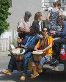 Drums in bridgeway