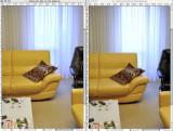 A gauche avec D-lighting en mode normal, à droite D-lighting desactivé. On voit bien le gain general dans l'image les hautes lumières sont mieux préservées et les basses lumières éclaircies. Ce qui se traduit par une dynamique finale interessante et une image jpg utilisable sans retouche Un élément important, le gain de dynamique ne se traduit pas par une image plate comme cela est le cas normalement mais le D-lighting s'occupe aussi de rééquilibrer le contraste des valeurs moyennes pour garder un aspect agréable à l'oeil.