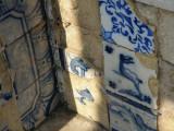 old azulejos (tiles) in a public garden