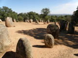 east of Lisbon at the Almendres Cromlech (~3000 BC)