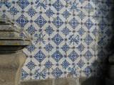 tiles on the church exterior