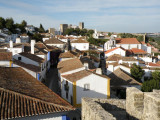 a view from the walls across town to the castelo