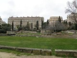 the Marseille history museum's garden of vestiges