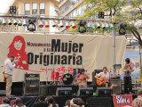 heading back toward the hotel: a free concert on the Avenida del Mayo, downtown