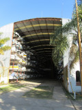 a multi-story boat storage house...
