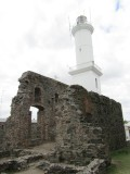 ruins of the convent San Francisco, and the faro (lighthouse) built into its walls