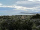 looking back toward the nearby town of El Calafate