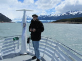 with Tom on a boat tour of the Brazo Rico and the glacier's south face