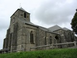 above the village of Dun-sur-Meuse, the antique church