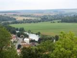 the church has an outstanding view down the Meuse river valley