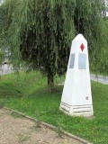 one of many markers for the US 5th Division along the Meuse