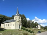 we pause in the rebuilt village of Vauquois...