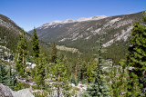 View back down valley - on route towards Donohue Pass from Lyell Canyon