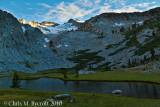 Evening light - lower lake below Donohue Pass
