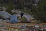 The campsite, near Garnet Lake