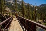 Roy and bridge over Fish Creek
