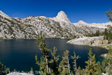 View back to Fin Dome, Over Rae Lakes