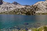 Upper Rae Lake, the way ahead to Glen Pass