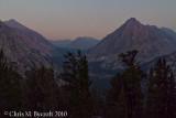 View up Bubbs Creek; University Peak, Center Peak, and East Vidette