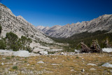 Bubbs Creek Valley - view back on way to Forester Pass.  Kearsarge Pinnacles on True Right hand side of Valley.