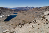 View south from Forester Pass.  Kaweah Peaks on the right skyline.
