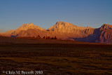 More dramitic sunset light on Mt. Russell and  Mt. Whitney