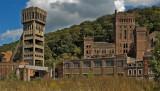 Hasard Cheratte coal mine, abandoned...