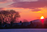 Sunset over Werneth Low