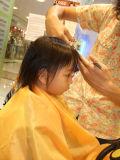 1st Offical Hair Cut at Saloon