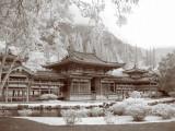Byodo-In Temple IR Sepia