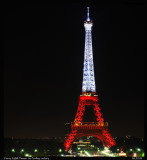 Paris Eiffel tower in Turkey colors (red and white) Oct-2010