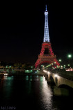 Eiffel Tower in White and Red  (4571)