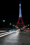 Eiffel Tower in White and Red (4574)