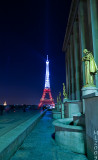 Eiffel Tower in White and Red  (4583)
